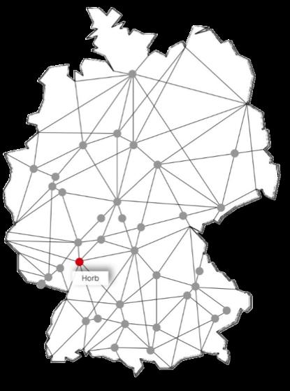 Standort Horb am Neckar Karte