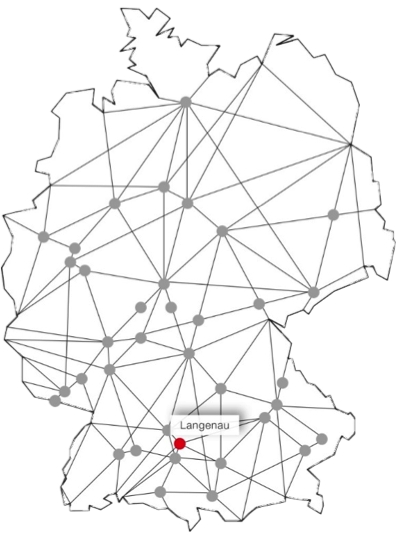 sprintBOX GmbH Standort Langenau Karte